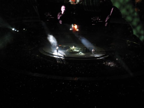 That's Bono way down there on stage and big screen!